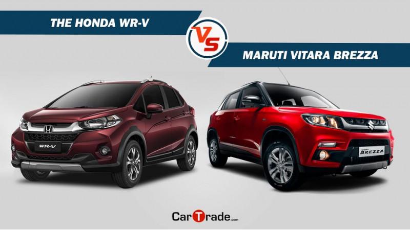 Honda WR-V Vs Maruti Vitara Brezza - Spec comparison