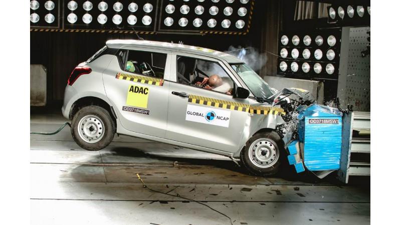 Maruti Suzuki Swift earns 2 stars at Global NCAP