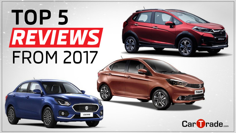 CarTrade Readers Choice:Top Five Expert Reviews from 2017