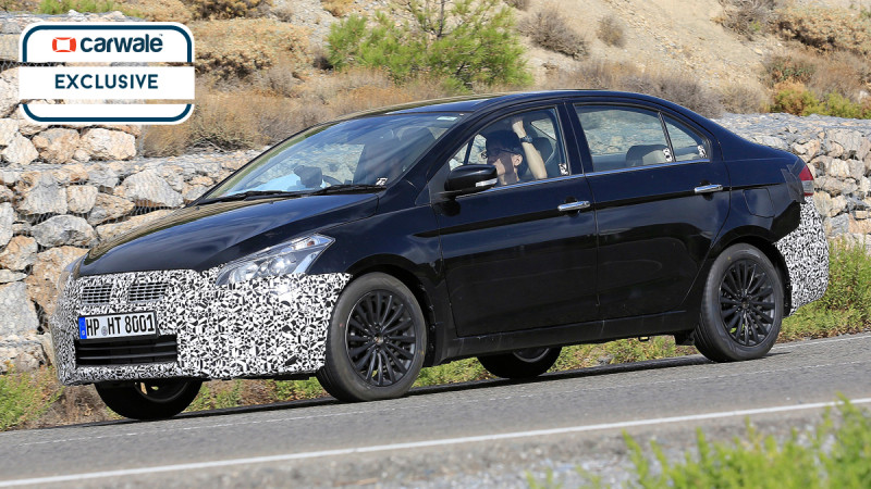 Maruti Suzuki Ciaz facelift spotted testing in Spain