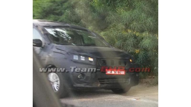 Camouflaged Maruti Suzuki MPV spied testing outside Delhi