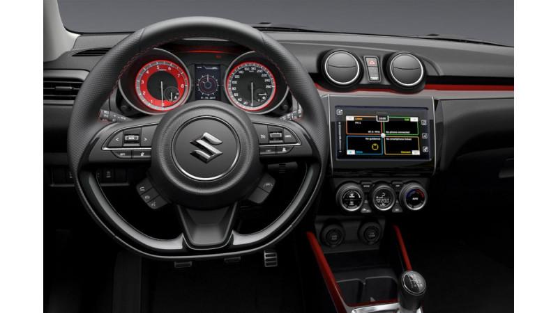 Interior of upcoming Suzuki Swift Sport shown