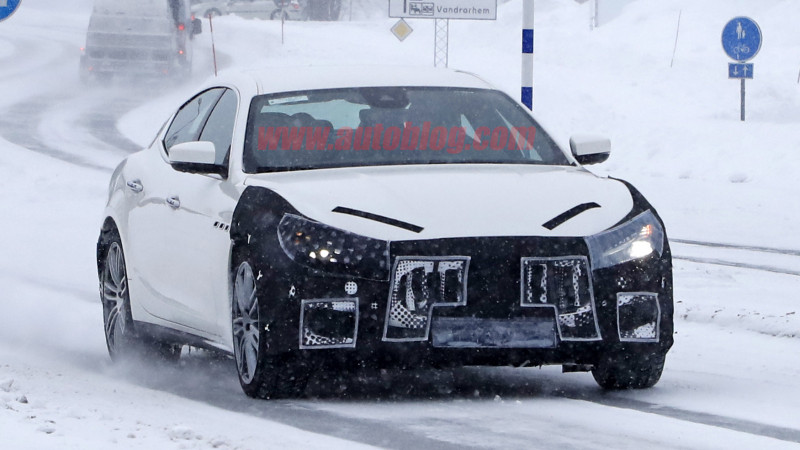 Maserati Ghibli facelift spied testing