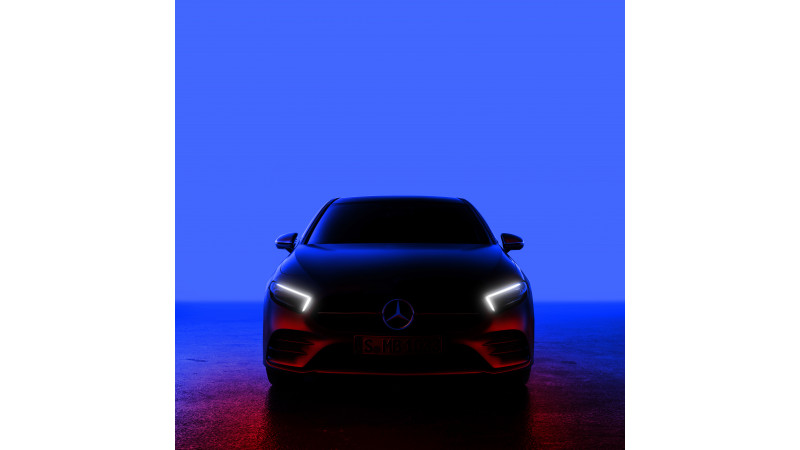 Mercedes-Benz teased the new A-Class ahead of 2 February reveal