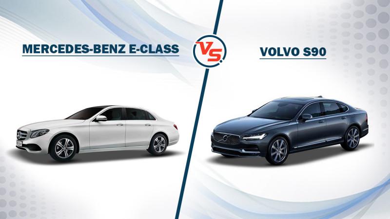 Spec comparison: Mercedes-Benz E220d Vs Volvo S90