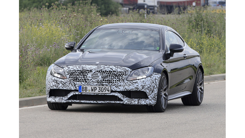 2018 Mercedes-AMG C63 Coupe spotted testing