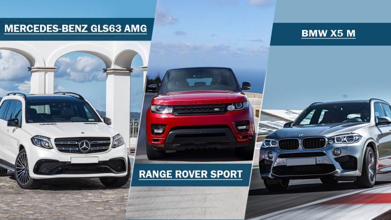 Spec comparo: Mercedes-Benz GLS 63 AMG Vs Range Rover Sport Vs BMW X5 M