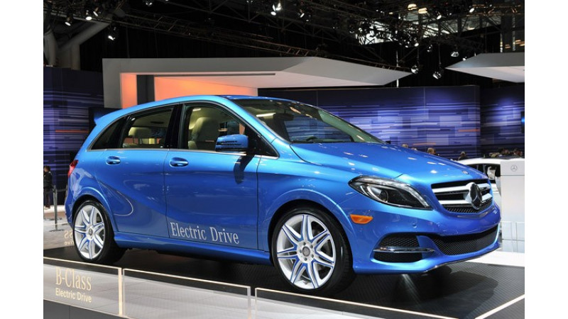 Mercedes-Benz unveils the B-Class Electric Drive at 2013 New York Motor Show