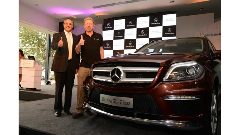 Boris Becker unveils new Mercedes-Benz 2013 GL-Class