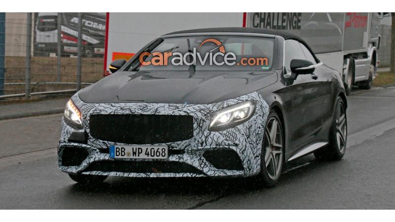 Refreshed Mercedes-AMG S63 Cabriolet spied on test