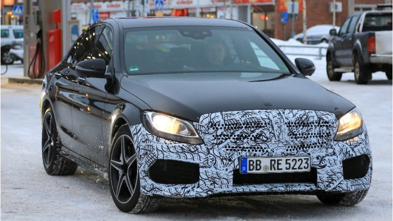 Mercedes-AMG tests their facelifted C43 saloon