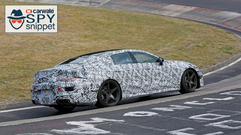 Four-door sedan version of the Mercedes-AMG GT spotted at Nurburgring