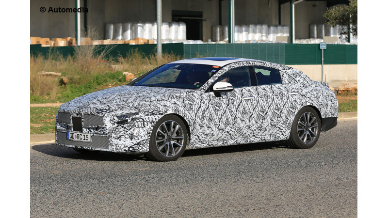 New Mercedes CLS spotted on test again