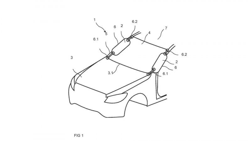 Mercedes trademarks external airbag for pedestrian safety