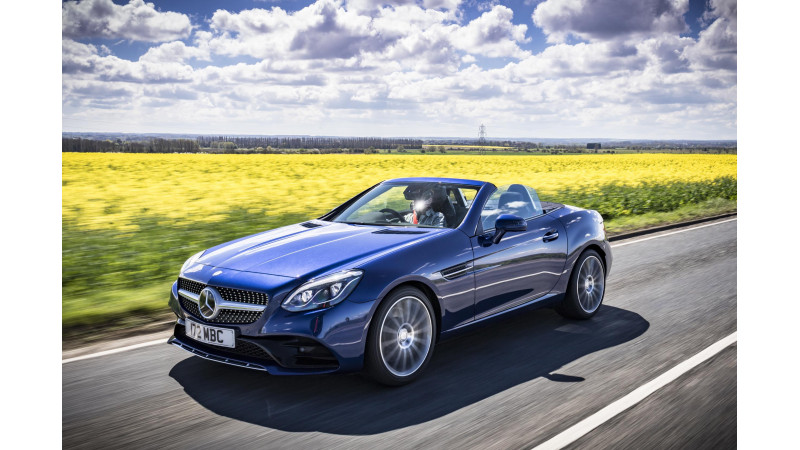 Base spec Mercedes SLC 180 with a 1.6 motor launched in the UK