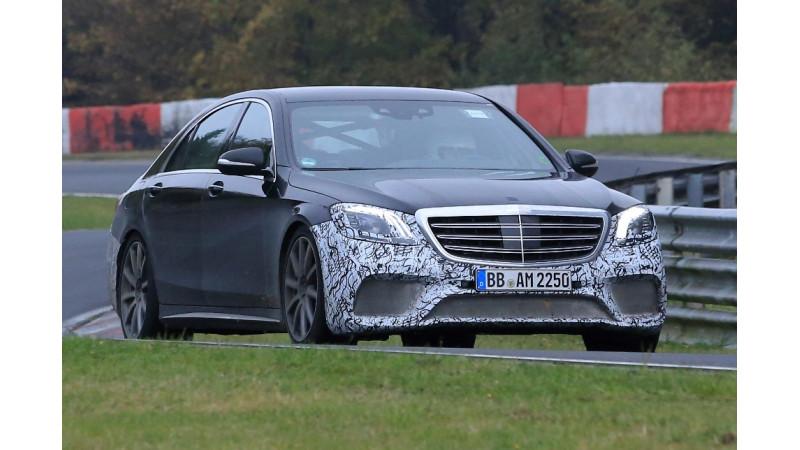Mercedes S65 AMG facelift spied