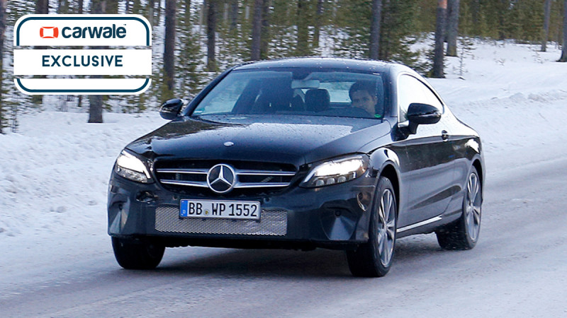 Mercedes-Benz C-Class Coupe facelift spied on test