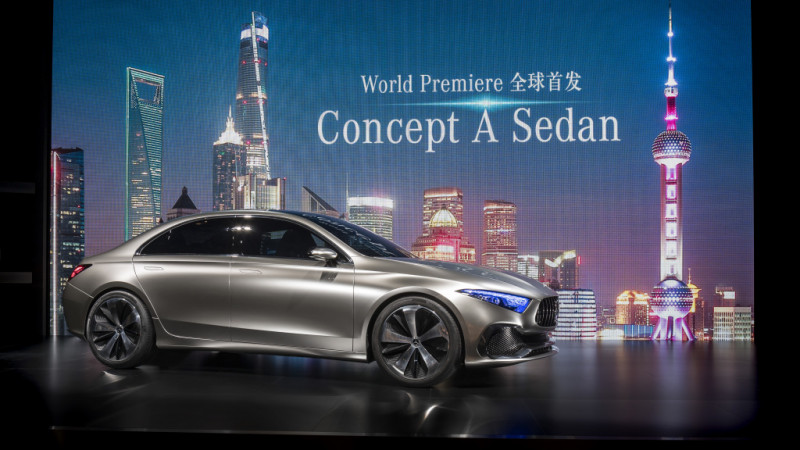 Mercedes-Benz Concept A sedan showcases design cues for next gen compact range