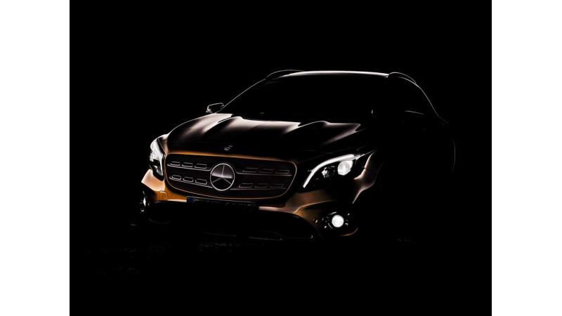 Mercedes-Benz GLA facelift teased; to debut at Detroit 2017
