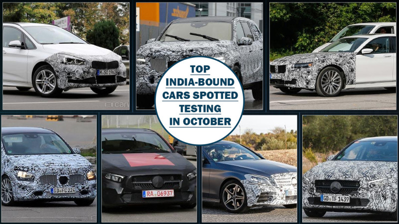 Spy shot roundup: India bound cars spotted in October