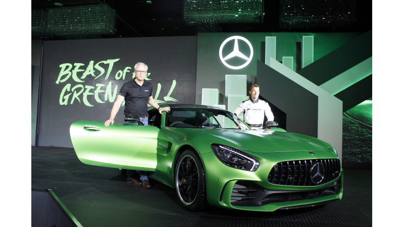 Four highlights from Mercedes AMG GT R BIC lap record