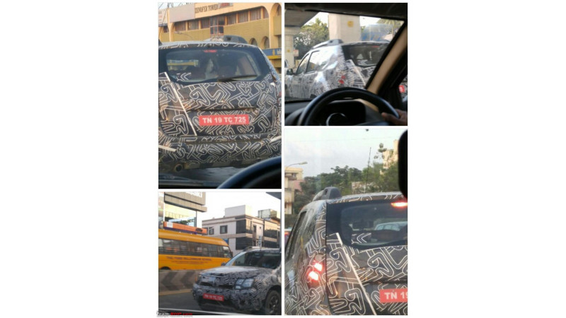 More spy pics of the upcoming Renault Duster facelift