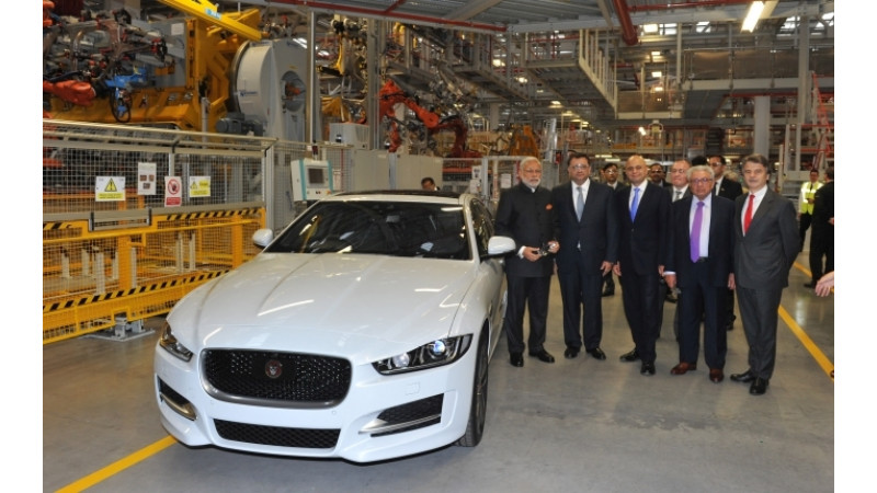 Narendra Modi visits Jaguar Land Rover plant in UK