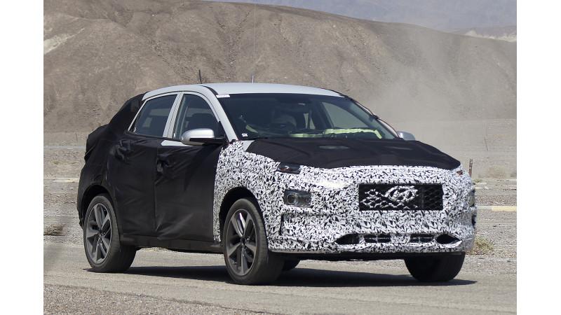 New Hyundai mini SUV spotted on test