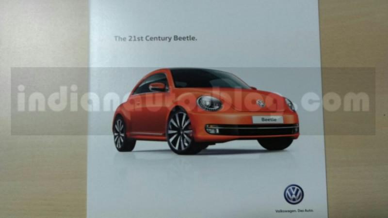 India bound Volkswagen Beetle brochure surface