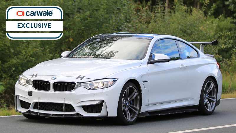 New version of BMW M4 spotted testing