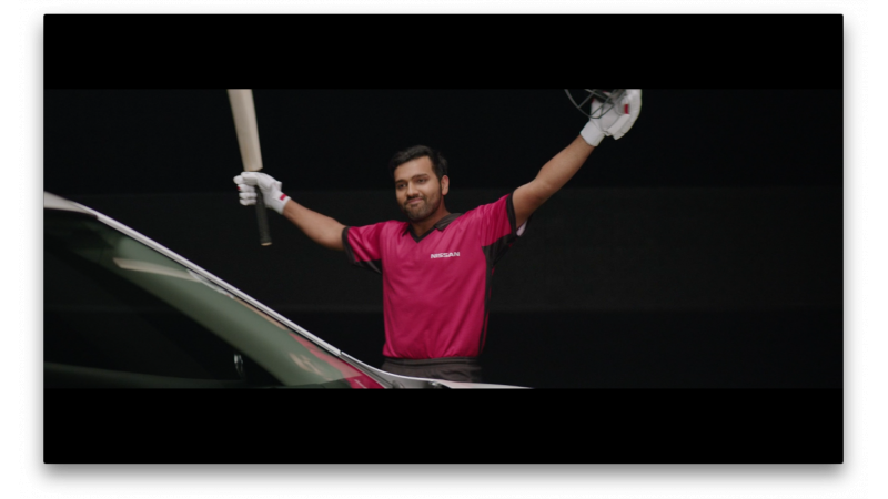 Nissan India's brand ambassador is Rohit Sharma