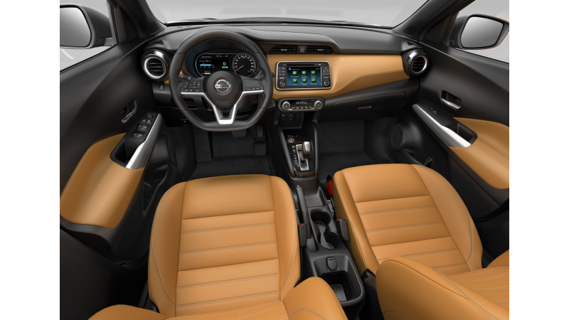 Interior of the Nissan Kicks revealed