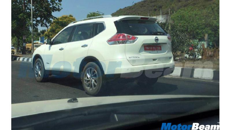 Nissan X-Trail Hybrid spotted testing in Chennai