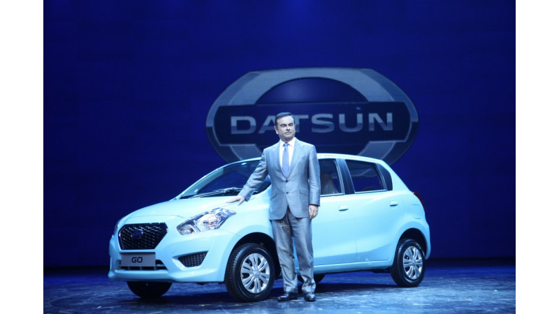 Nissan showcases the Datsun 'Go' hatchback in India