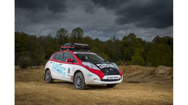 Nissan Leaf EV to participate in Mongol Rally