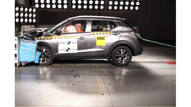 Nissan Kicks earns four stars in Latin NCAP