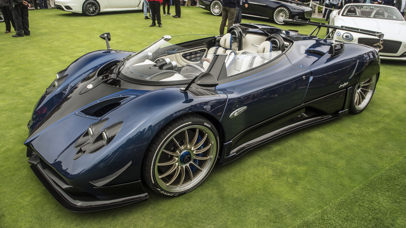 Pagani reveals the Zonda HP Barchetta at the Pebble Beach