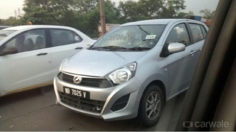 Perodua Axia (Daihatsu Ayla) spied testing in Mumbai