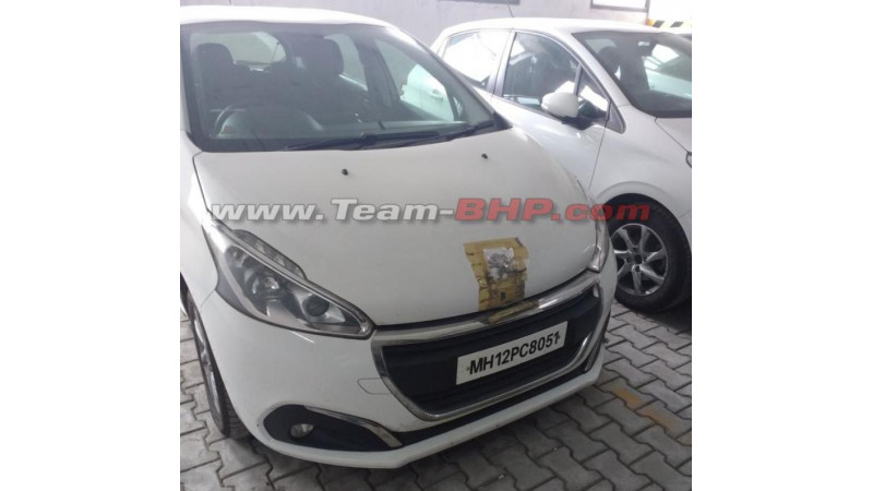 Peugeot 208 test mule images surface in India