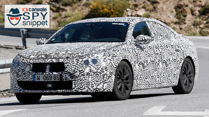 Next generation Peugeot 508 spied testing
