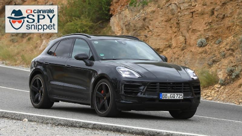 Porsche Macan facelift spied on test