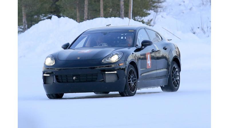 Porsche tests their Mission E in Finland