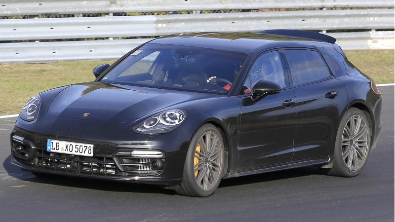 Porsche's Panamera wagon spotted testing