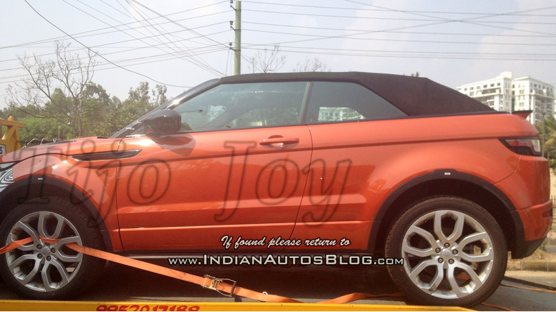 Range Rover's new open top Evoque Convertible spied in India
