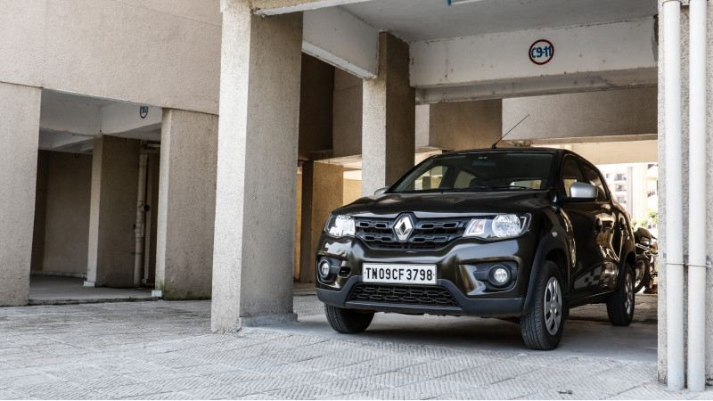 Renault offers a four-year and one lakh kilometres warranty for the Kwid