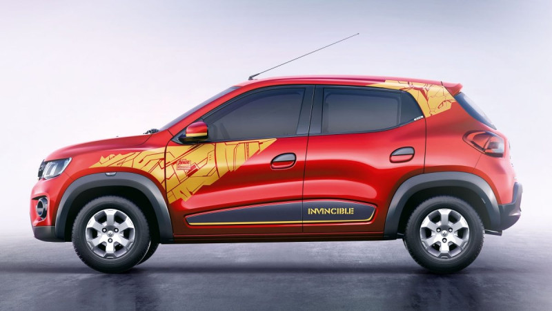 Renault Kwid Superhero edition detailed