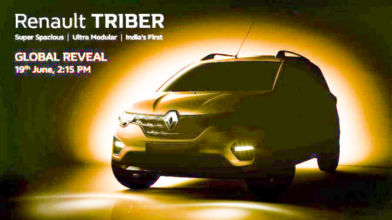 Renault Triber teaser revealed ahead of 19 June