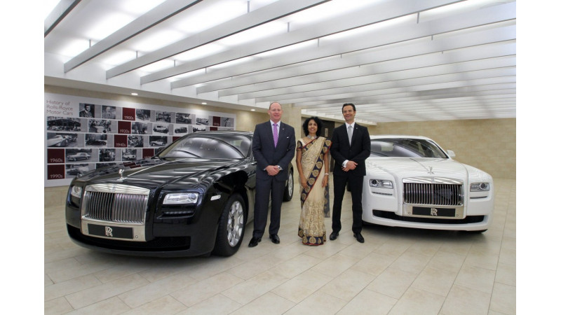 Rolls Royce inaugurates a new showroom in Hyderabad