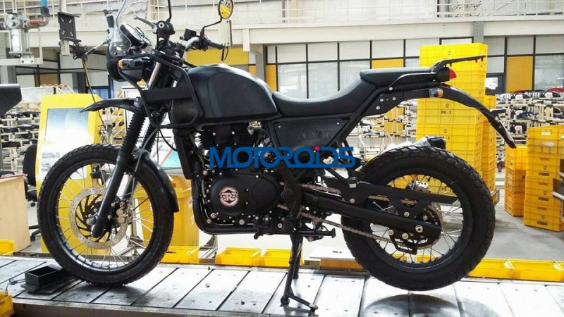 upcoming royal enfield himalayan spotted launch expected in 2016 auto expo royal enfield bike. Black Bedroom Furniture Sets. Home Design Ideas