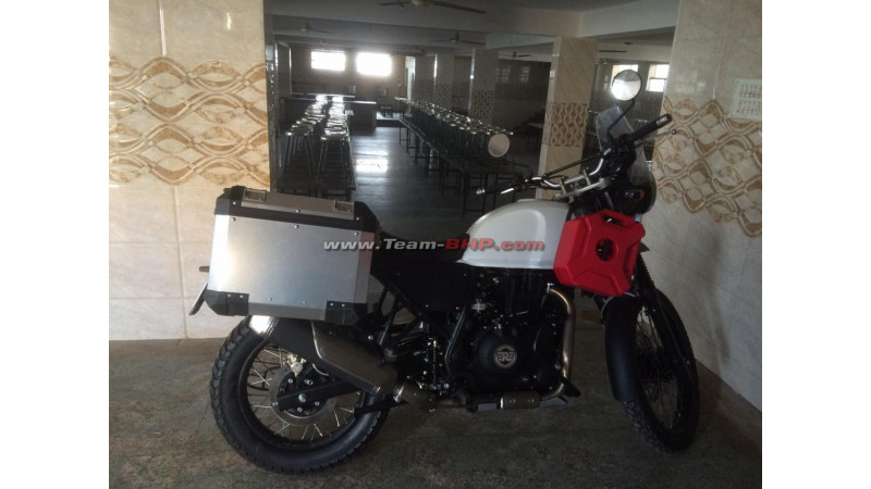 Royal Enfield Himalayan spotted un-camouflaged